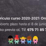 Matricula curso 2020 – 2021