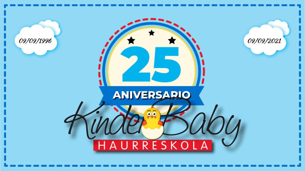 Estamos de celebración. Hoy es el 25º aniversario de Kinder Baby. Tal día como hoy abrimos con mucha ilusión la guardería Kinder tras 14 años de actividad.